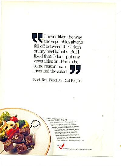 Beef kabobbs - JAMES GARNER ad - 1987 (Image1)