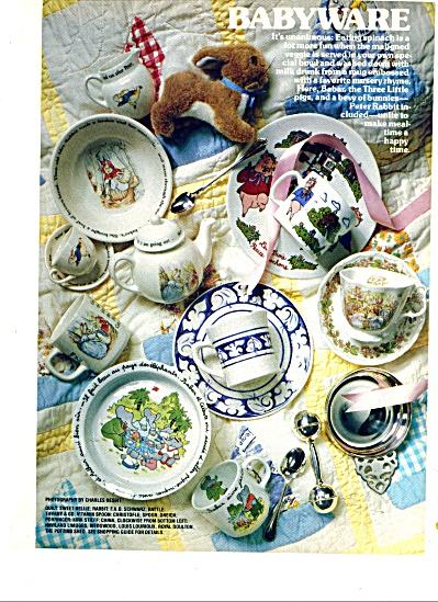 1987 BABYWARE Childrens Dinnerware AD (Image1)