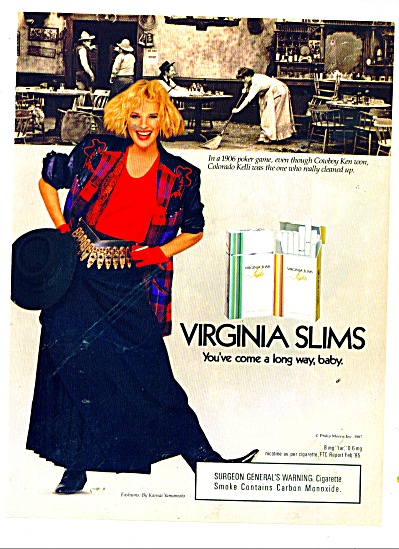 1987 Virginia Slims 1906 Poker Game AD Cigare (Image1)