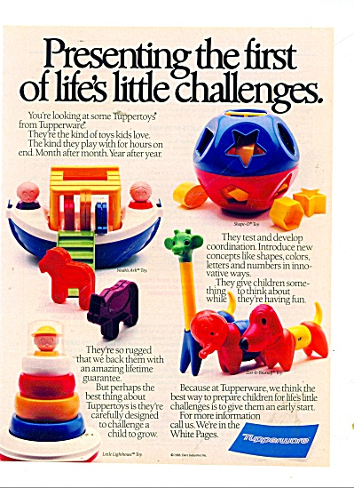 Tupperware toys for kids ad 1989 (Image1)