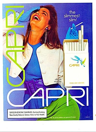 1987 CAPRI Cigarettes AD Beautiful MODEL (Image1)
