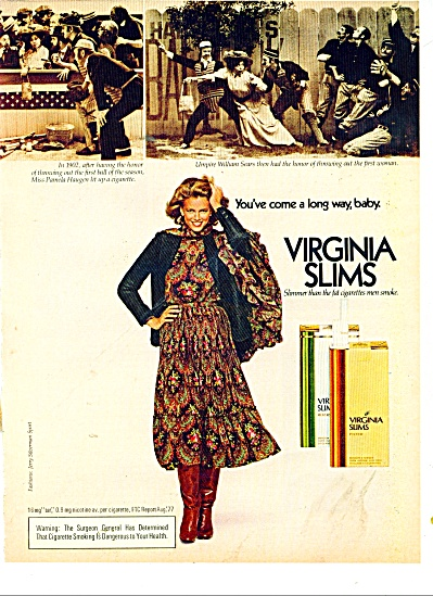 1978 Virginia SLIMS Cigarettes AD LONG WAY BA (Image1)