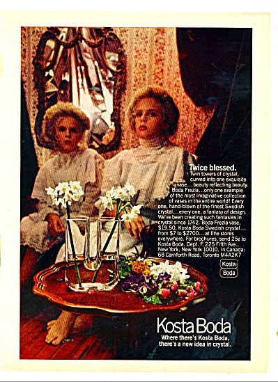 Kosta Boda swedish crystal ad 1978 (Image1)