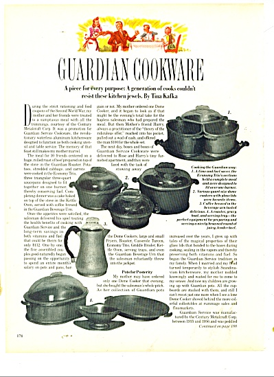 Guardian cookware by Tina Kafka ad 1986 (Image1)