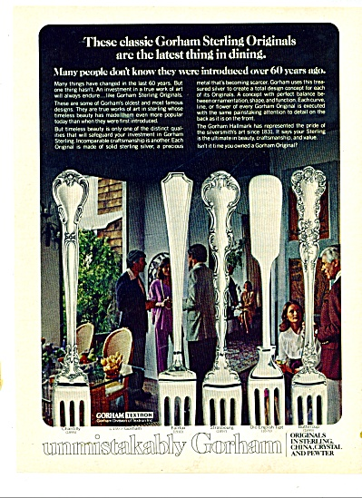 Gorham Sterling originals ad 1978 (Image1)