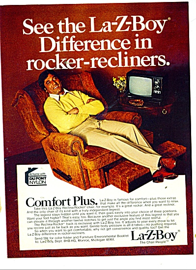La-Z-Boy rocker-recliners- JOE NAMATH ad 1978 (Image1)