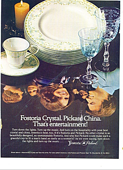 Fostoria - Pickard China ad 1978 (Image1)