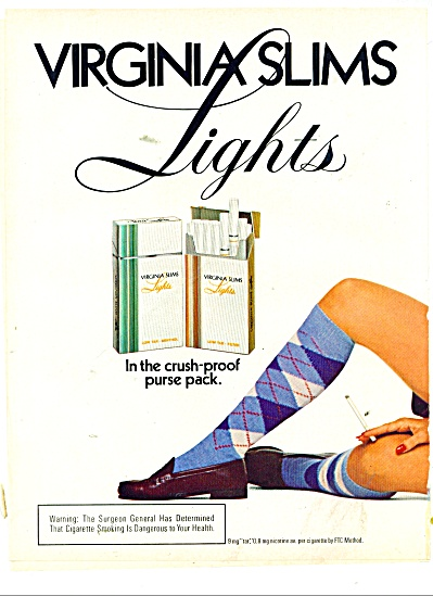 Virginia slims lights cigarettes ad 1978 (Image1)
