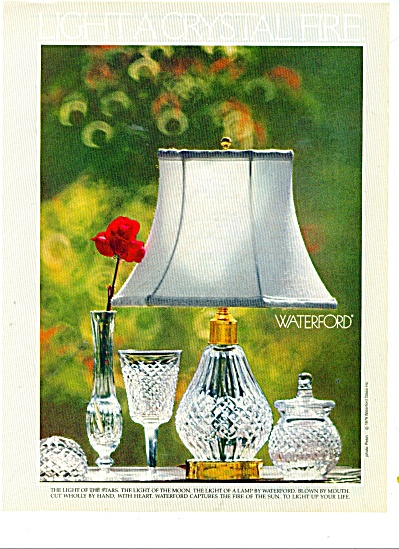 Waterford light crystal fire ad 1979 (Image1)