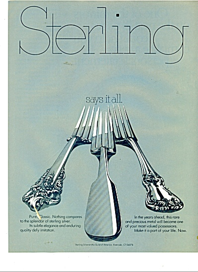 1979 STERLING SILVER Silversmiths AD (Image1)