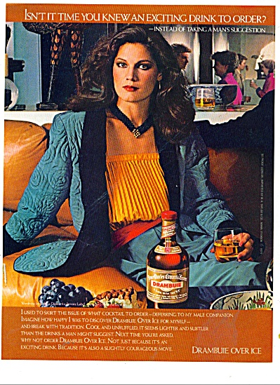 1979 DRAMBUIE AD Beautiful FASHION MODEL (Image1)
