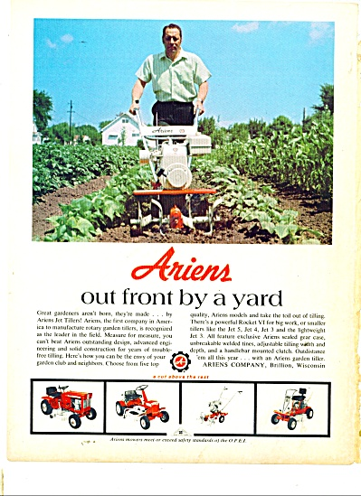 Ariens tiller, tractors ad 1970 (Image1)