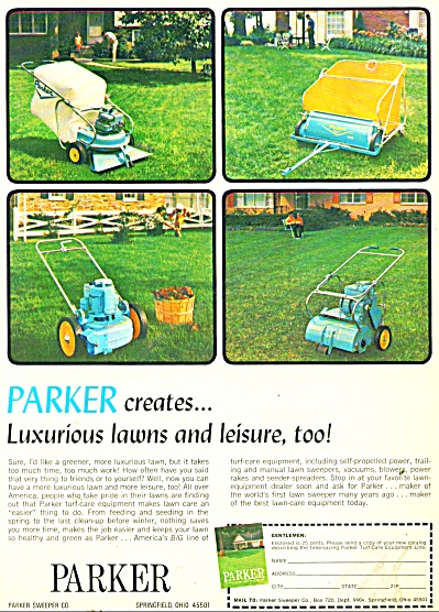 Parker lawn equipment ad 1969 (Image1)