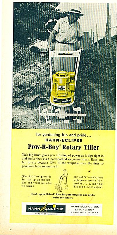 1950s Hahn-eclipse rotary tiller ad POW-R-BOY (Image1)