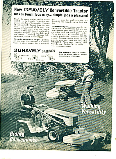 Gravely Tractor division ad 1967 (Image1)