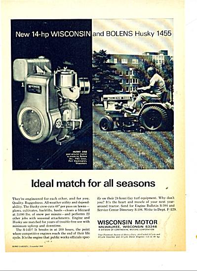 Wisconsin Motor - Bolens Husky ad 1969 (Image1)