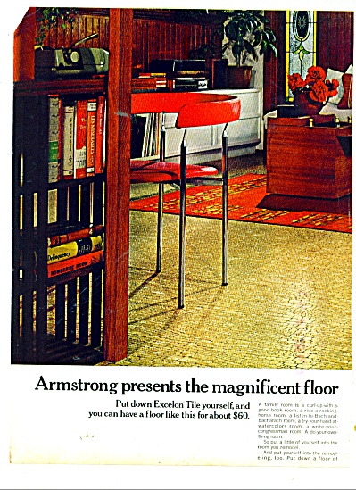 1970 ARMSTRONG ASBESTOS Floor TILE AD (Image1)