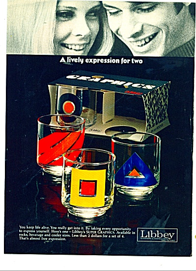 1970 Libbey Super Graphics Glass Ad