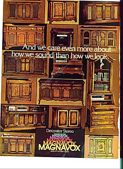 1960s Magnavox decorator stereo ad MANY MODEL (Image1)