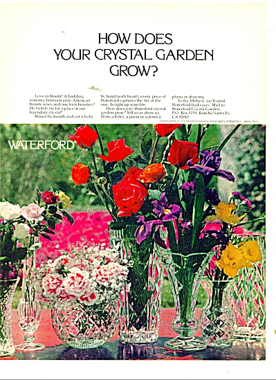 Waterford crystal ad 1977 IRISH Beauties (Image1)