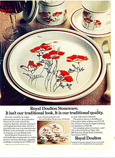 Royal Doulton stoneware ad 1977 (Image1)