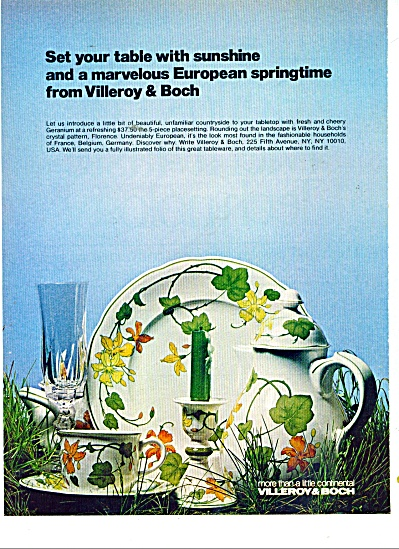 Villeroy & Boch placesetting  ad 1977 (Image1)