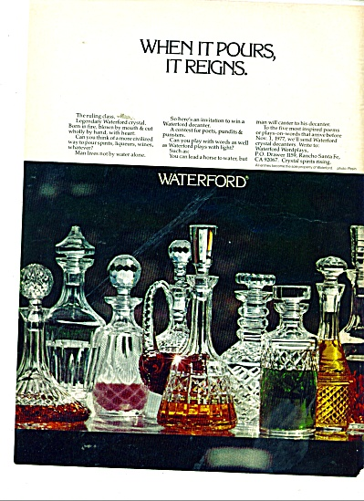 Waterford Crystal ad 1977 Legendary (Image1)