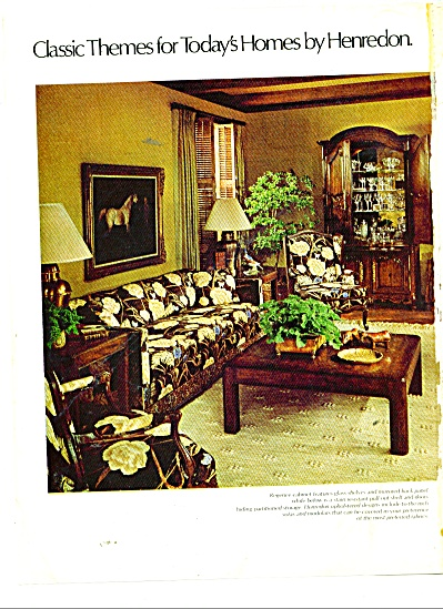 Henredon furniture ads  1977 (Image1)