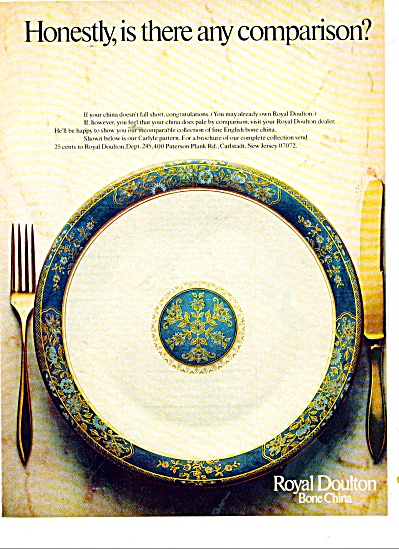 Royal Doulton Bone China Ad 1977
