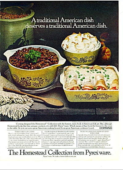 Pyrex ware - the Homestead collection ad 1977 (Image1)