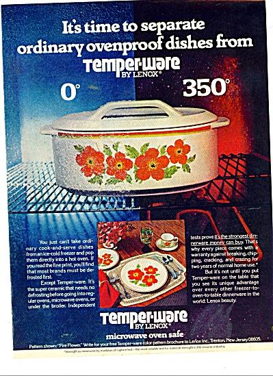 Temper-ware by Lenox ad 1977 (Image1)