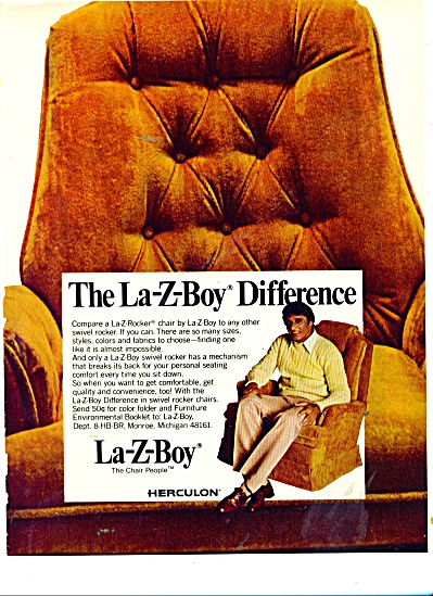 LA-z-bOY  herculon chairs ad 1977 (Image1)