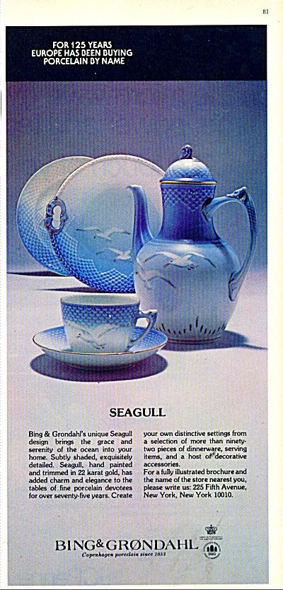 Bing & Grondahl porcelain ad 1977 (Image1)