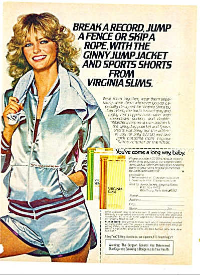 1979 CHERYL TIEGS Virginia Slims Cigarettes A (Image1)