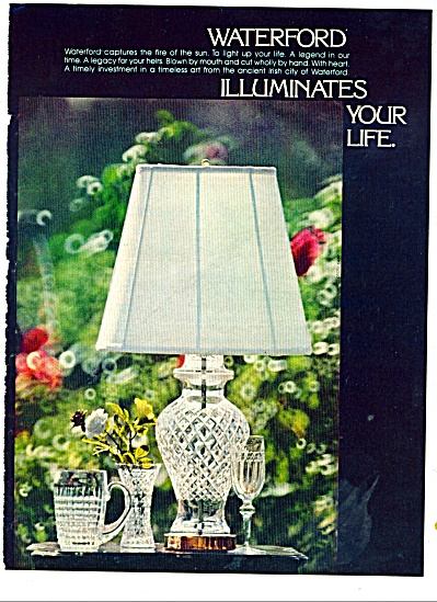 Waterford  crystal ad 1977 Beautiful (Image1)
