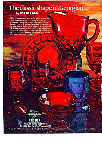 1977 VIKING GLASS GEORGIAN Shapes PATTERN AD (Image1)