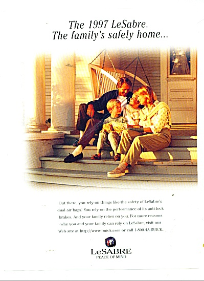 1997 BUICK LeSABRE CAR AD Family RELIES (Image1)