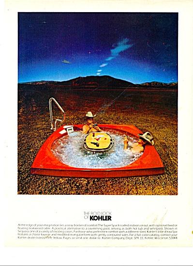 The bold look of Kohler ad 1979 TEAKWOOD SPA (Image1)