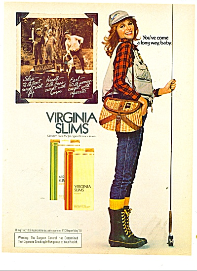 1978 CHERYL TIEGS Virginia Slims Cigarette AD (Image1)