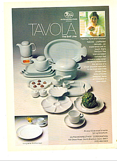 Hutschenreuther Corporation porcelain ad 1978 (Image1)