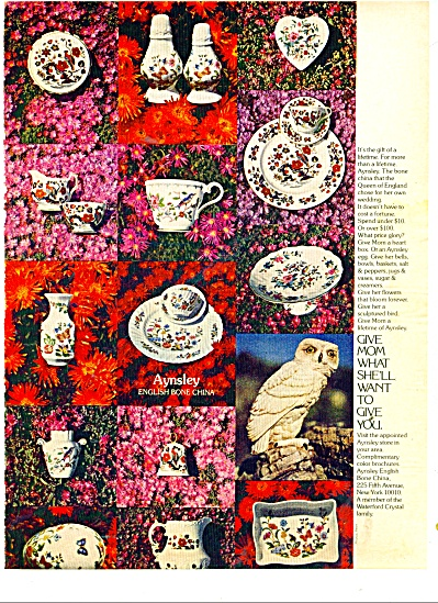 Aynsley english bone china ad 1977 (Image1)