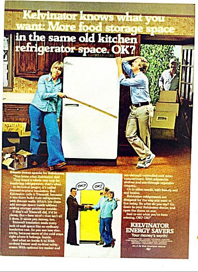 1977 Kelvinator TRIMWALL REFRIDGERATOR AD DENNIS JAMES (Image1)