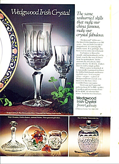 Wedgwood Irish Crystal from Galway ad 1978 (Image1)