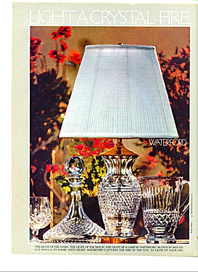 Waterford light Crystal fire ad 1978 (Image1)