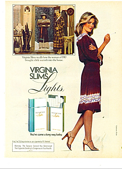 1981 Virginia slims Lights cigarettes AD (Image1)