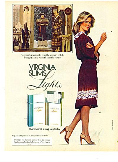 1981 Virginia slims Lights cigarettes AD (Image1)