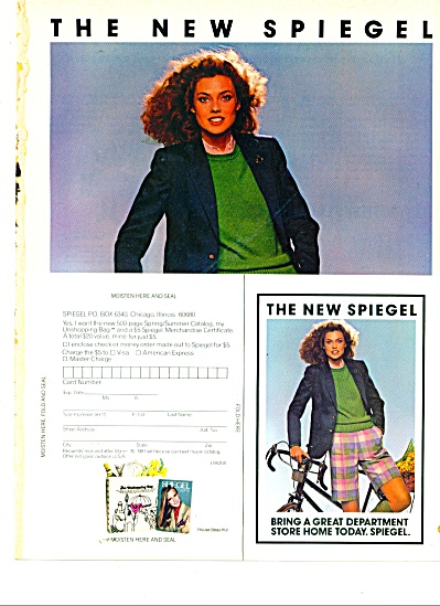 1981 Spiegel Catalog Ad 1981 Carol Alt Model