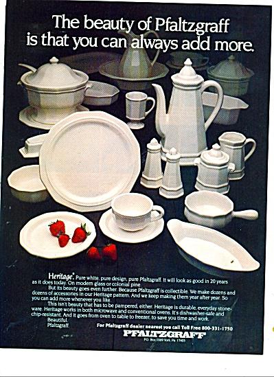 Pfaltzgraff HERITAGE Dinnerware AD 1981 (Image1)