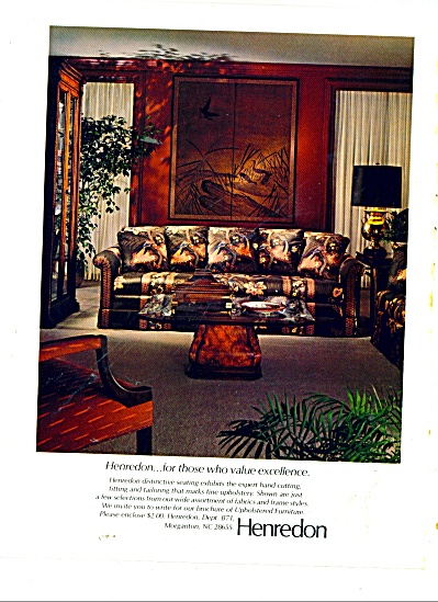 Henredon Furniture Ad 1981