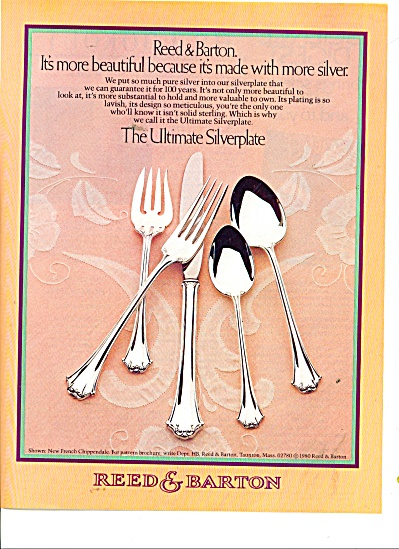 Reed & Barton silverplate ad 1981 (Image1)
